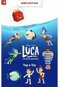 McDonald's Disney Pixar LUCA Happy Meal toys 2021 complete set of 8 *sealed*