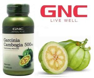 Gnc Herbal Plus Garcinia Cambogia Fat Burner Slimming 500mg 90