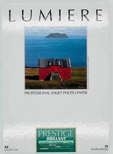 Candide Papier Lumiere Prestige Brillant A4 25 Feuilles 310g Lum3100147