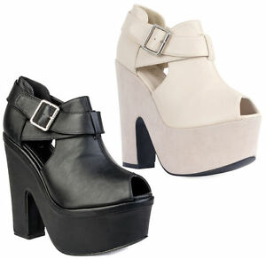 Ladies-Women-Cut-Out-Wedges-High-Heel-Peeptoe-Platform-Sandals-Womens-Shoes-Size
