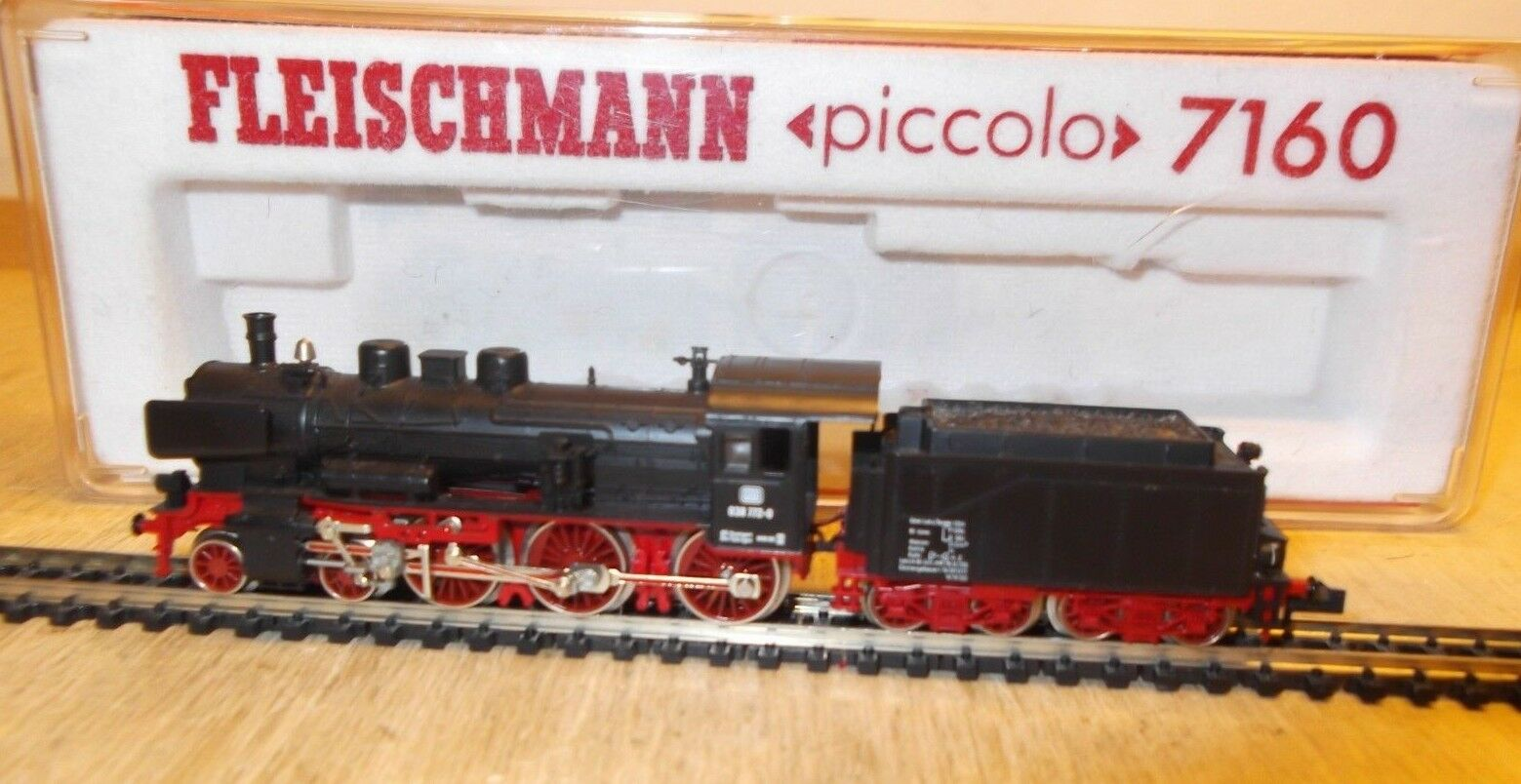 Fleischmann N 7160 locomotiva BR 38 1366 delle DB esaminato la prima classe in scatola originale