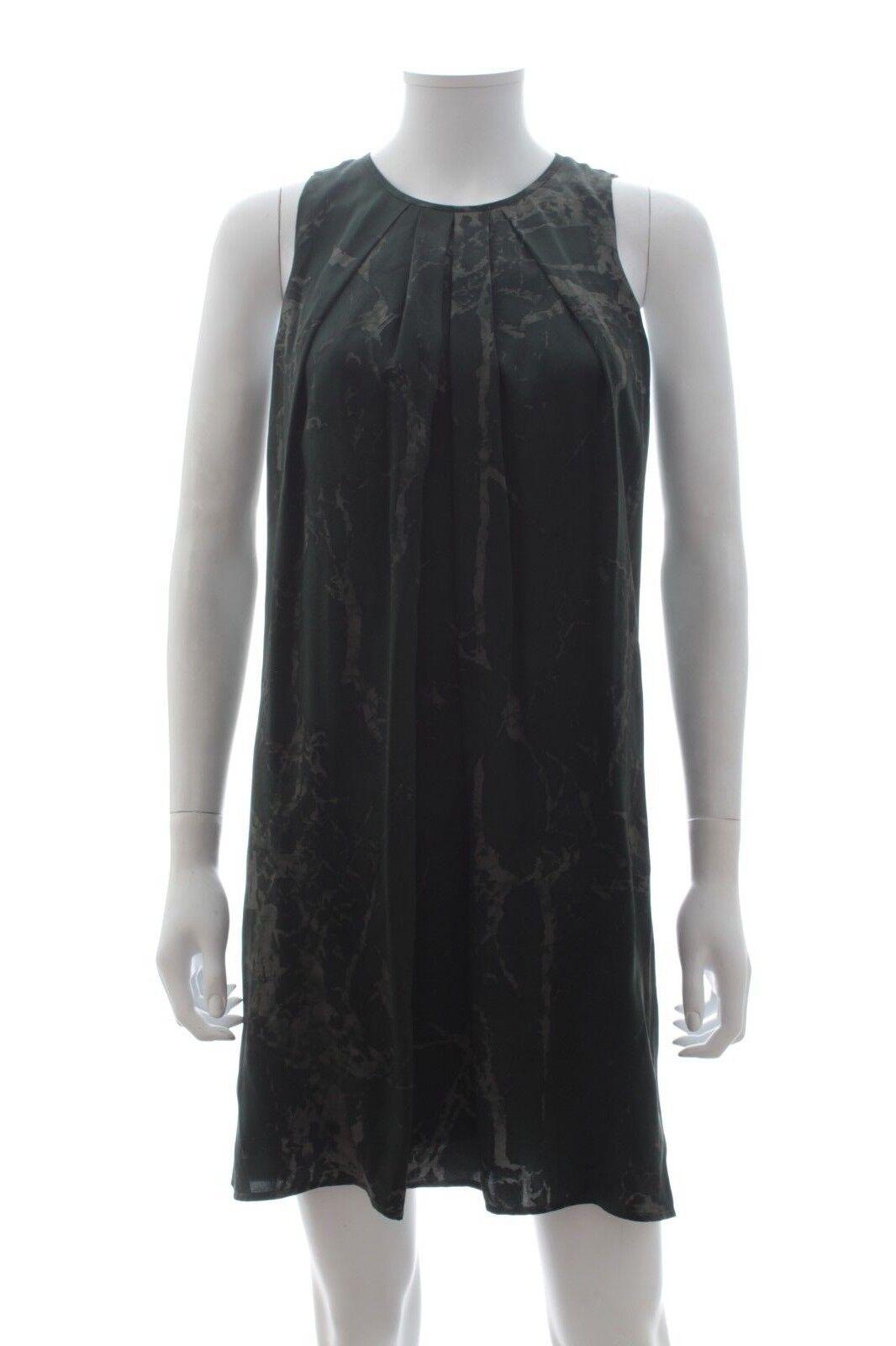 Balenciaga MARBLE-stampa Seta Vestito Vestito Vestito Kaki, Antracite prezzo consigliato  .00 00a0c6