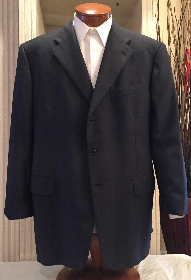 Stunning Faconnable  Herren Bluish grau Wool Blazer Sport Coat  Sz 48 R MINT