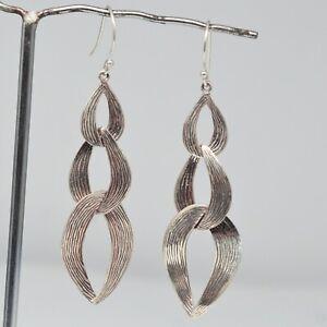 925-Sterling-Plain-Silver-Earrings-6-21-gms-Earrings-Jewelry-CCI