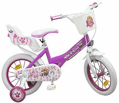 kinderfahrrad paw patrol 14 zoll mit puppensitz st tzr der kinder fahrrad pink ebay. Black Bedroom Furniture Sets. Home Design Ideas