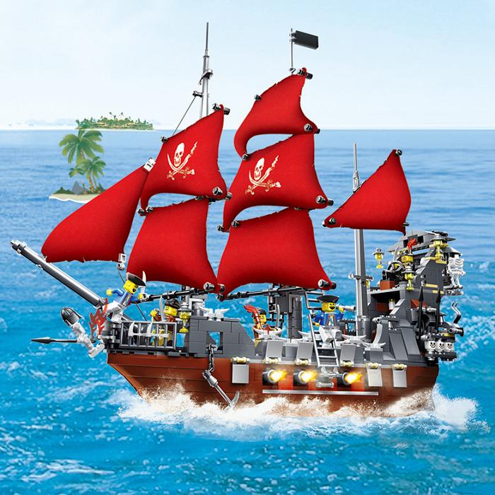 Baukästen WANGE Pirat Freibeuter Kaper Spielzeueg Mini Kind Geschenke Dekoration