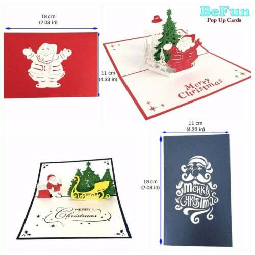 Love Pop Up Cards 10 Pcs 3D Greeting Christmas Invitation Kid Friend Mom Dad