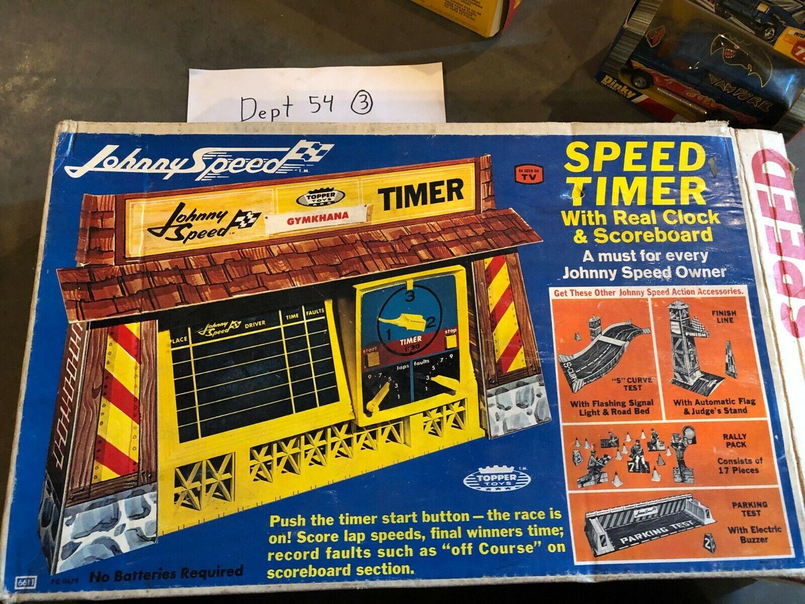 Vintage Topper giocattoli Johnny Speed Timer Eccellente con la scatola