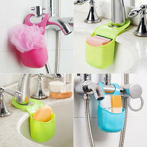 Kitchen Bathroom Rack Sink Sponge Holder Hanging Strainer
