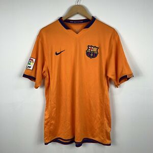 Nike-Sphere-Dry-Mens-Barcelona-Football-Soccer-Jersey-Size-Large-Orange-Pre-2010