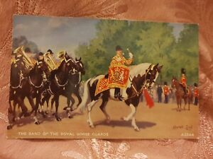Details about Band of the Royal Horse Guards - Conrad Leigh - Vintage  Postcard