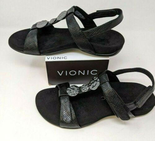 Details about  /Vionic Rest Farra Lizard Sandal Black