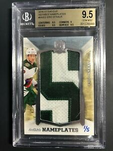 2016-17 The Cup Eric Staal Notable Nameplates 1/5 BGS 9.5 GEM Mint