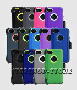 For-iPhone-5c-Rugged-Case-Cover-w-Holster-Belt-Clip-Fits-Otterbox-Defender-NEW