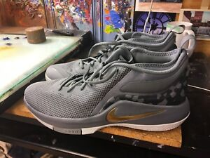 bcbdd4e4d443 Nike LeBron Witness II Cool Grey Metallic Gold Size US 13 Men s ...