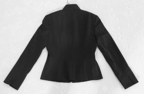 Tahari Nehru Collar Black Blazer Jacket SZ 8
