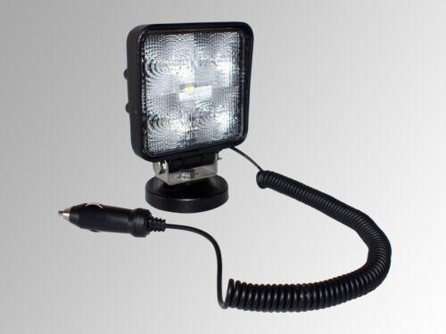 TOP 12V 24V LED Arbeitsscheinwerfer mit Magnetfuß 15W 800 Lumen Scheinwerfer