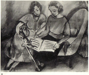MATISSE-SIGNED-1935-LITHOGRAPH-w-COA-UNIQUE-ARTWORK-Henri-Matisse-Print-RARE-ART