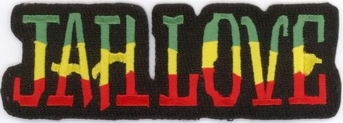 """3 Pcs RASTA JAH LOVE Embroidered Patches 1.5/"""" x 4.25/"""" iron-on"""