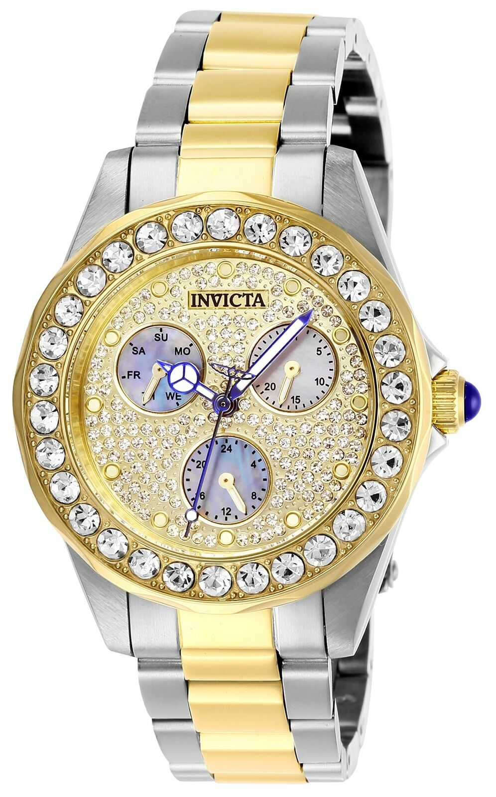 Invicta Women's Angel 28459 38mm Charcoal Dial Stainless Steel Watch