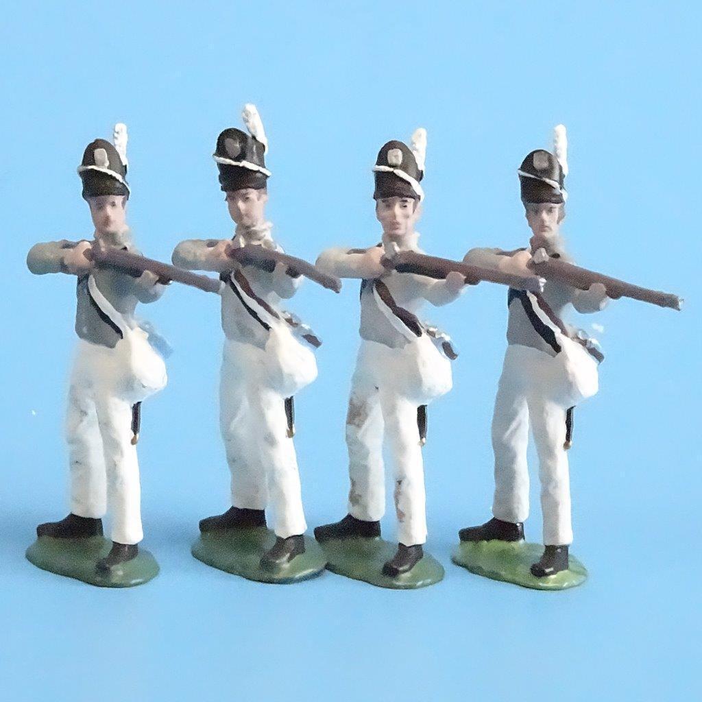 CORD-A0130 - Scotts Brigade Firing (4 Pieces) - War of 1812 - All the King's Men