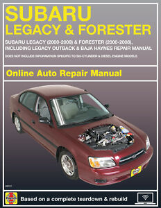 subaru shop manual online