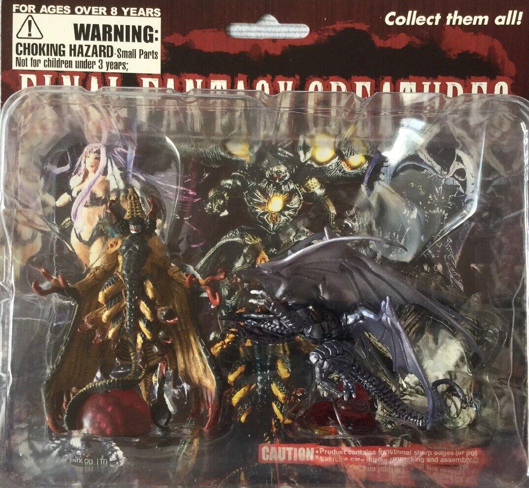 Final Fantasy criaturas Bahamut cero & muerte mirada Cochedada figuras Nuevo Sellado Raro