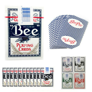 12-Decks-BEE-Casino-Used-Playing-Cards-Poker-Case-Club-Special-Cambric-Finish