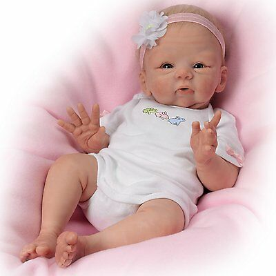 Ashton Drake Snuggle Bunny Lifelike Poseable Baby Doll by Tasha Edenholm