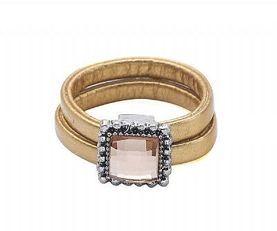 Fashion Women Cocktail Ring Crystal Engagement Wedding Party Rings Jewelry Leath
