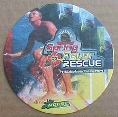 CANADA Details about  /MOOSEHEAD LAGER SPRING FEVER RESCUE Beer COASTER Mat SURFING SKATEBOARD