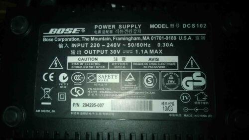 -/> 30V 1,1A Original Bose Netzteil DCS102 für Lifestyle Acoustimass 220V