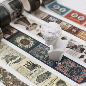 Retro Creative decoration Washi Paper Tape Album diary Scrapbooking stickers 5M