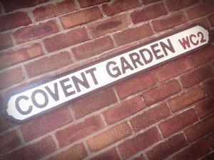 Covent Garden Old Wood London Vintage Street Sign Apple Market Road Sign