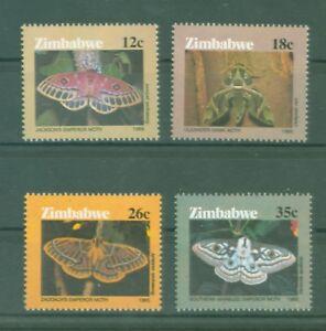 Simbabwe-Zimbabwe-1986-Schmetterlinge-Papillons-Butterflies-Motten-Nr-344-47
