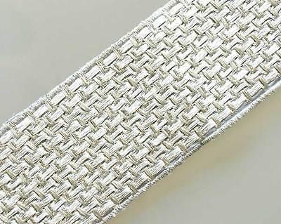 Metallic Silver Lace Fringe Trim Ribbon Braid 5 Yards