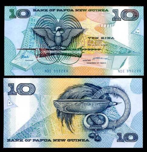 10  KINA 1995  Prefix NCY PAPUA NEW GUINEA P 9c Uncirculated Banknotes