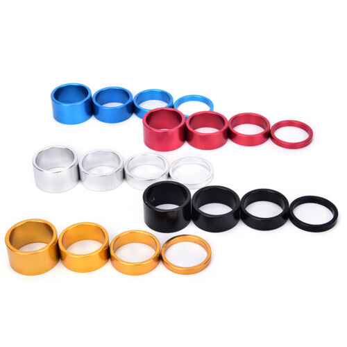 4pcs Bicycle Headset Spacer MTB Road Bike Headset Washer Front Stem Fork Spacers