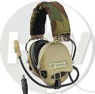 AIRSOFT ZTACTICAL SORDIN HEADSET MIC BOOM RADIO MSA DESIGN WOODLAND TAN DE