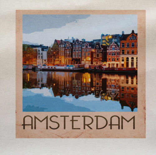 Amsterdam Printed On Fabric Panel Make A Cushion Upholstery Craft