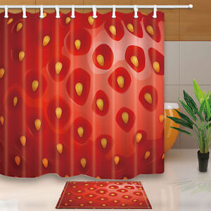"""Maple Leaf Texture Watercolor Dots Fabric Shower Curtain Bathroom Waterproof 71/"""""""
