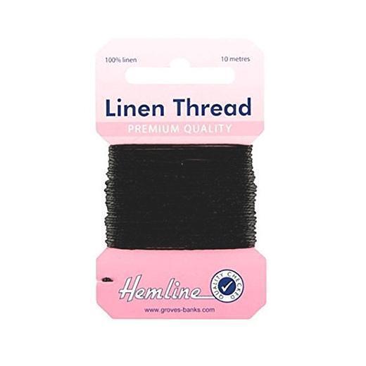 Hemline H1001//05 Navy 100/% Linen Strong Mending Thread 10m Canvas//Upholstery