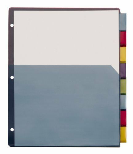 4 Pack Multicolor Divider 8 X Tab 84017 Tops Extra-tough Poly Dividers