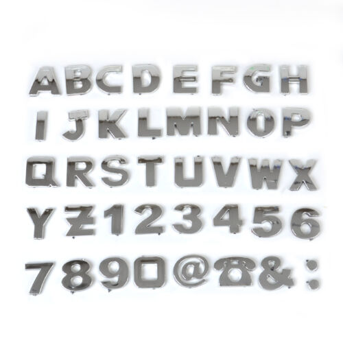 40stk 3D Auto DIY Metallic Alphabet Buchstaben Nummer Abzeichen Aufkleber yewho