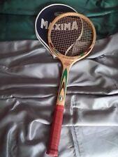 Racchetta Tennis legno vintage epoca antica Maxima Diana anni 70 old racket
