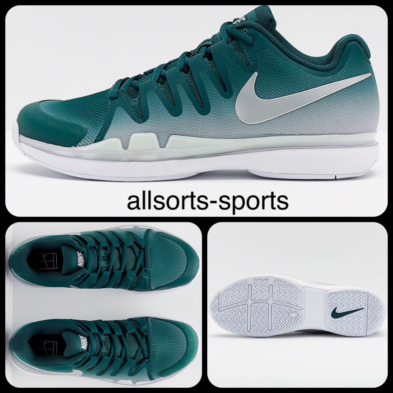 V76 Nike Zoom Vapor 9.5 Tour 631458-300 Federer Tennis shoes