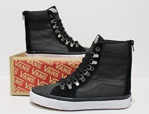 6a49af1c38c36e Vans Super SK8 Hi Zip Ballistic Mix Black Women s Size  10
