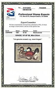 1981 Duck Stamp Scott RW48 PSE 85 VF-XF Very Fine Extremely OG NH Unused Mint