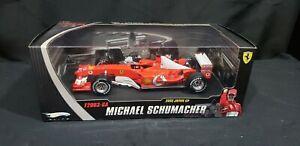 SCHUMACHER-FERRARI-1-18-Hot-Wheels-Elite-F2003-GA-GP-Japan-World-Champ-LMT-ED