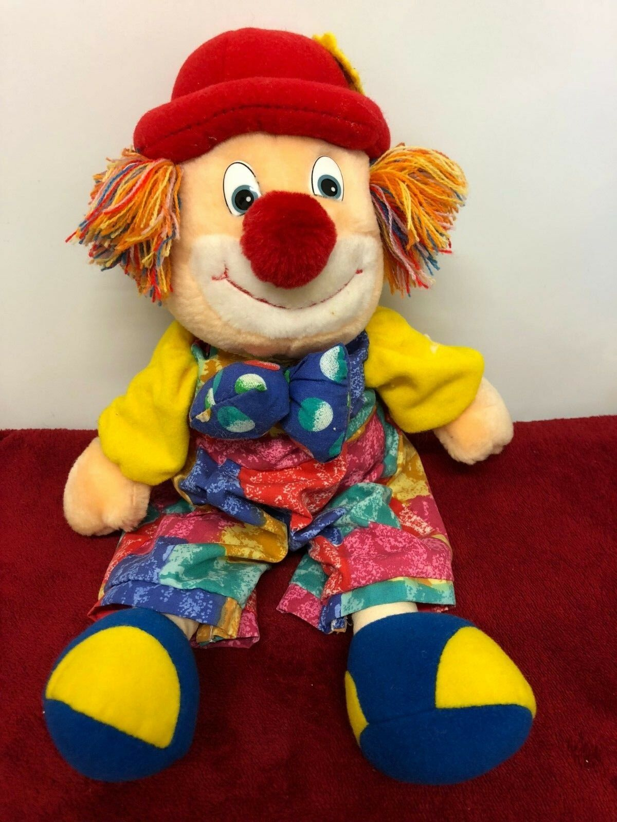 Circus Clown Vibrating Musical Soft Toy 23cm